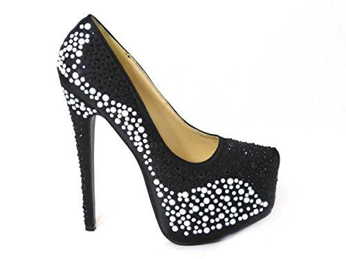 Zapatos de tacón alto para mujer, con plataforma, para fiesta, graduación, boda,...