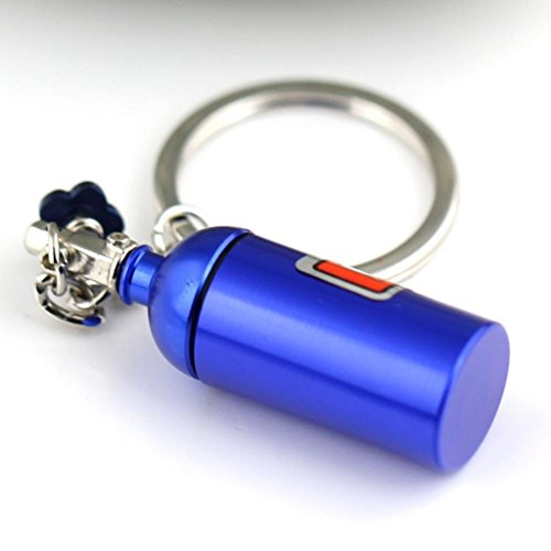 NOS Bottle Keychain Keyring Nitrous Pill Stash Box - Ships from USA
