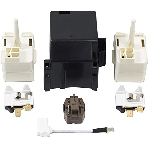 8201786 Compressor Relay Start Device Kit – Refrigerator Start Device, Compressor Relay Start Kit Replacement Part, Replaces 2212194 2188829 2188830 2220475 AP3885081 2216697