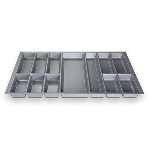 ORGA-BOX® IV UNIVERSAL Besteckeinsatz Besteckkasten Silbergrau für 90er Schublade (473,5 x 826 mm)