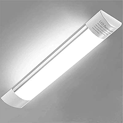 Sararoom 3ft LED Shop Light Fixture 30W LED Tube Light, 3600lm, 6500K Cold White, 90cm 35.4inch LED Garage closet light Ceiling Light for Office Home Basement, No Plug