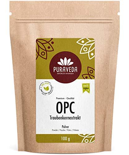 OPC Traubenkernextrakt Pulver 100g - 95% OPC - hochdosierte Premium Qualität - ohne Zusatzstoffe - aus reifen, roten Weintrauben - kontrolliert und abgefüllt in Deutschland