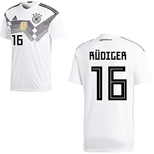 adidas Fußball DFB Deutschland Home Trikot WM 2018 Heimtrikot Herren Rüdiger 16 Gr XXL