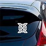 Pegatinas De Coches 15.8 cm x 15.8 cm interesante símbolo religioso celta calcomanía hermosa etiqueta engomada del coche para el coche portátil etiqueta de la ventana