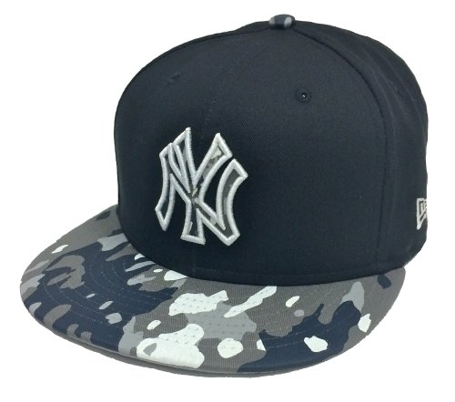 New Era - Casquette Strapback Homme New York Yankees 9Fifty Camo Break - Navy/Camo - Taille S/M
