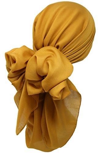 Bamboo Damen quadratisch Schal Halstücher Kopftuch (1m x1m) (Senf -Mustard)