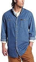 Wrangler Riggs Workwear mens Denim Work button down shirts, Antique Navy, XX-Large Tall US