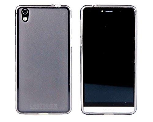 caseroxx TPU-Hülle für Medion Life X5004 MD 99238, Handy Hülle Tasche (TPU-Hülle in schwarz-transparent)