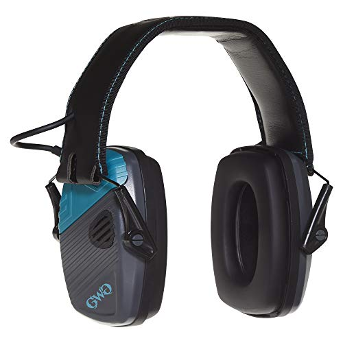 Allen Company Girls with Guns Shield Low-Profile Electronic Earmuffs, 24 dB NRR, ANSI S3.19 & CE EN352-1 Hearing Protection Rated, Gray/Teal/Black, Gray and Teal (Eye & Ear Protection_Ear Protection)