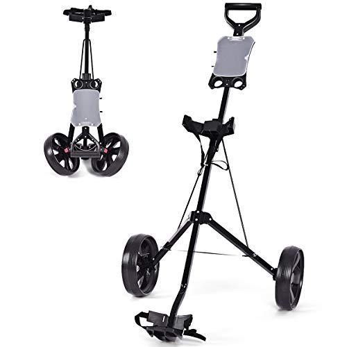 Tangkula Golf Push Cart Foldable 2 Wheels Push Pull Cart Trolley (Large,...