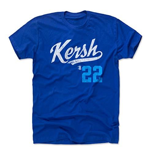 500 LEVEL Clayton Kershaw Shirt (Cotton, Large, Royal Blue) - Los Angeles Men's Apparel - Clayton Kershaw Kersh Players Weekend L WHT