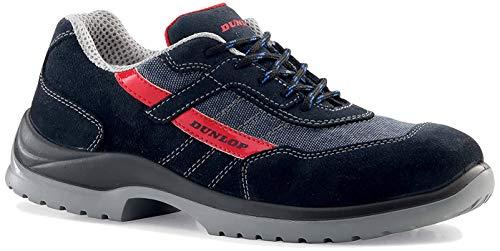 Dunlop Fast Response - Chaussures de sécurité S1P SRC couleur, Bleu/Rouge, 40 EU