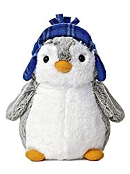 Image: PomPom 9inch Penguin Plush with Blue Hat From Aurora World