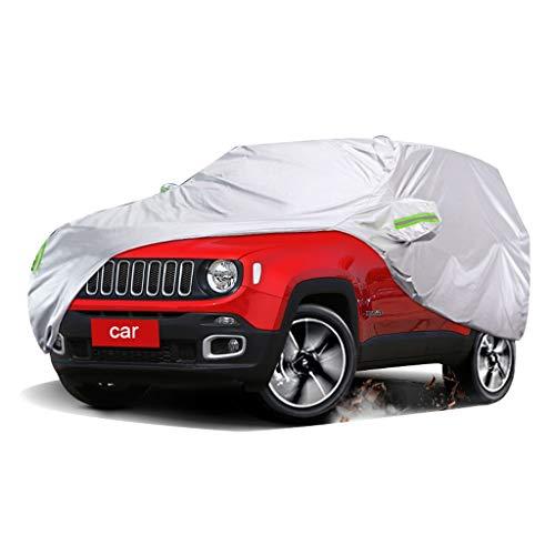 Car cover Compatibile Con JEEP Renegade Auto Protettiva Telo Copriauto copertura per auto Pieghevole Anti UV Anti Pioggia antipolvere antineve protezione solare Copriauto Universale (Color : Silver)