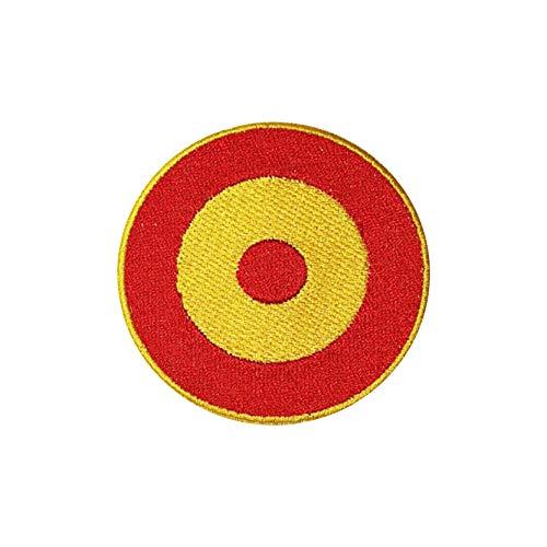 2 Banderas circulares de ESPAÑA PARCHE BORDADO AUTOADHESIVO, termoadhesivo, planchable (1)
