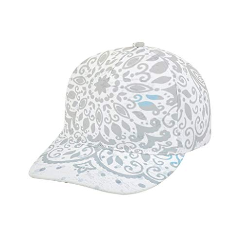 O2ECH-8 Unisex grijze mandala muts - stijl zacht plain hoed