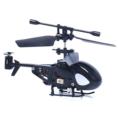 winwintom Flying Mini RC 2CH Mini RC helicóptero Radio Control Remoto avión Micro 2 Canales (Negro)