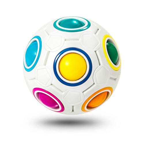 ROXENDA Rainbow Ball Magic Ball, Juego de Habilidad Bola de Rompecabezas - Cerebro Teaser y Bola de Estrés para Niños y Adultos