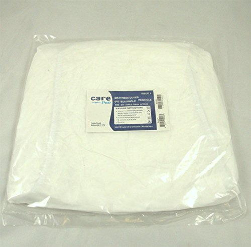 Single Heavy Duty PVC Plastic Waterproof Fitted Mattress Bed Protector