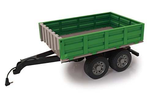 Jamara 412412 Kipper für Fendt 1050-ferngesteuerte Kippmulde hoch/runter, Anhängerkupplung vorne, Klappbare Bordwände, bunt