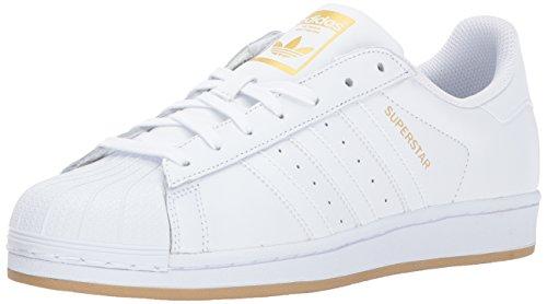 adidas Superstar, Zapatillas para Correr para Hombre, Blanco/Dorado metálico/Gum, 10 M US
