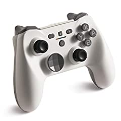 MULTI-PLATFORM -- Compatible with Nintendo Switch/NSL, Windows (incl. Steam), Android, Apple devices, Fire TV, etc, you'll get more than just an alternative to Switch Pro Controller DIFFERENT -- Mechanical keyswitch for ABXY delivers unrivaled speedy...