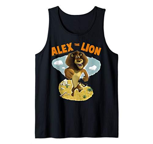Madagascar Alex The Lion Desert Text Poster Tank Top