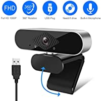 Zhenren Full HD 1080P Webcam with Microphone