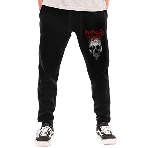 Ellicot Men's MIW Band Fleece Sweatpant Sport Pants Gym Running Trousers with Drawstring Black