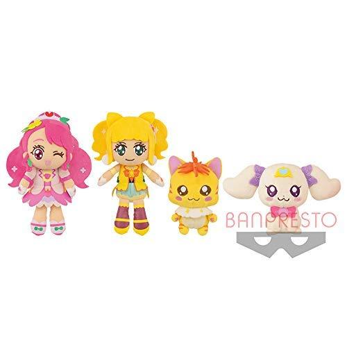 Banpresto Hiringuddo Pretty Cure Grace Cure Sparkle Nyatoran Latte 4set 15cm Stuffed Soft Plush Doll Genuine