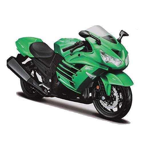 huyouwanG 1:12 Motocicleta AL Kawasaki Ninja ZX14R, Modelo de Montaje de Motocicleta en Color