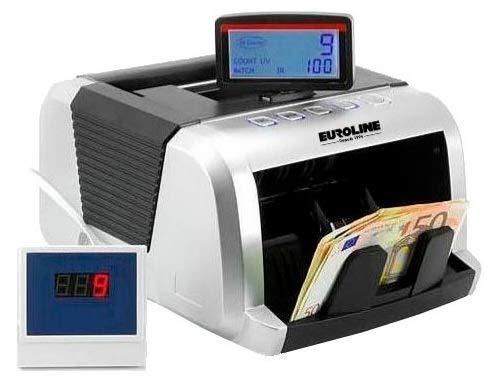 EUROLINE - COMPTEUSE DE BILLETS Quadruple détection faux billets IR/MG/MT/UV + Technologie 2D - Garantie 2 ans