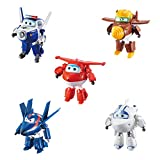 Super Wings - Transforming Characters Collector 5 Pack | Jett, Paul, Todd, Astra, and Agent Chase | 5'' Scale