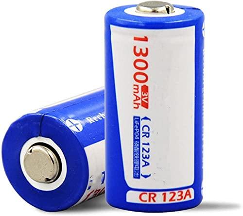 2pcs Gran Capacidad LIFEPO4 1300mAH 3V CR123A Batería de Litio Recargable, para linternas Dispositivos de electrónica de cámara Control Remoto