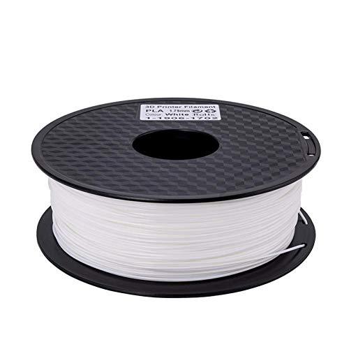 Printer Accessories White Color 3D PLA Printer Filament 1.75mm 1kg/Roll 2.2lb Spool for 3D Printer 3D Printing Supplies (Color : White) (Color : White) (Color : White)