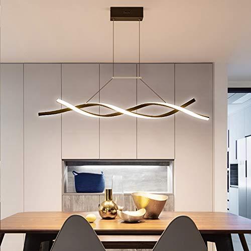 Moderne Kronleuchter LED Pendelleuchte Esszimmerlampe Dimmbar Wohnzimmerlampe Hängelampe LED Deckenleuchte Esstisch Lampe mit Fernbedienung Höhenverstellbar Schlafzimmer Büro Bad Deko Küchen Lampe L80