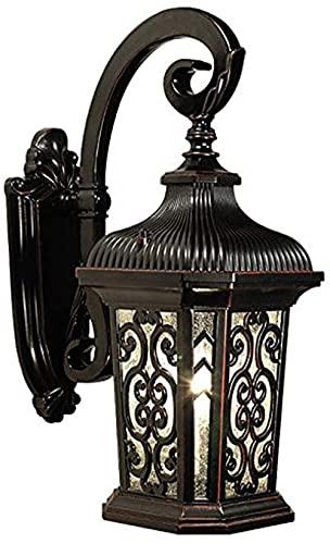 Lámpara de pared de estilo moderno, luces de pared creativas, estilo retro, chino, exterior, impermeable, lámpara de pared, estilo antiguo, puerta de pasillo al aire libre, balcón, patio (color: B)
