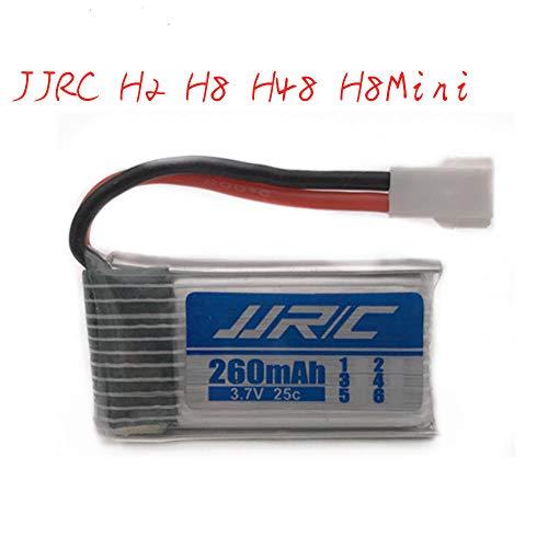 zjpvip218 3.7v 260mAh batería lipo para JJRC H8 H8mini H2 H20 H36 H48 E010 E010C E011 E012 E013 F36 U839 S8 M67 RC Drone Parts 1 Piezas-Blanco_si_25C