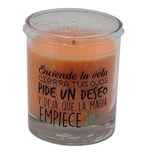 Lumar Vela perfumada con Olor a Albaricoque y Mensaje