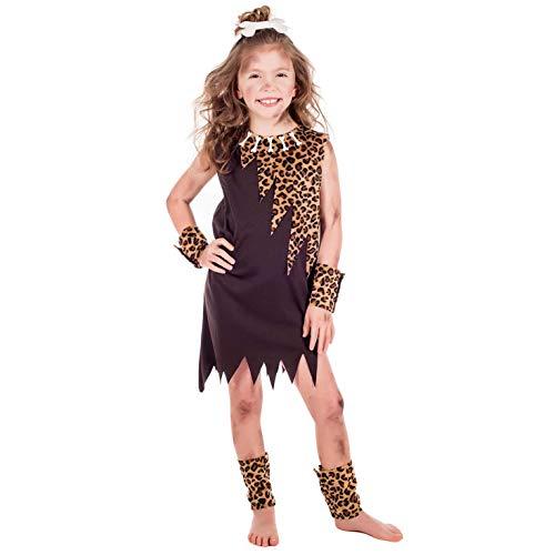 Fun Shack Marrón Chica Cavernícola Disfraz para Niñas - S