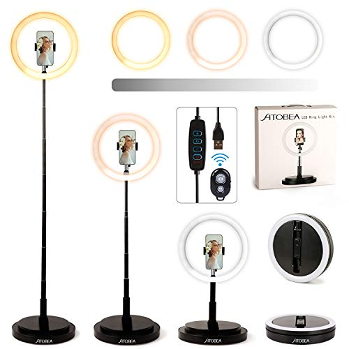 Luce ad Anello Led, Ato Bea 11,5' Tik Tok Led Ring Light con Treppiedi Dimmable...