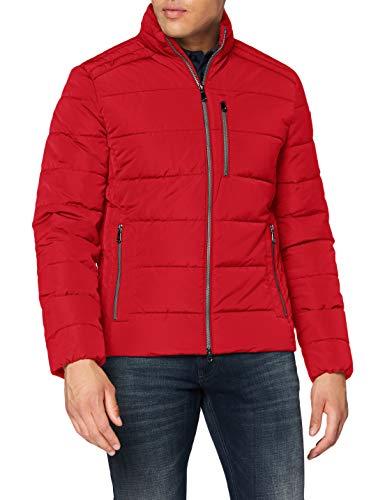 Geox Mens M HILSTONE Quilted Jacket, Ribbon RED, 56 (Herstellergröße:62)