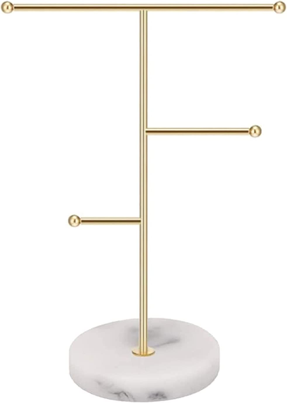 LXQS Virginia Beach Mall New item Jewelry Display Stand White Pattern Marble Decorativ Simple