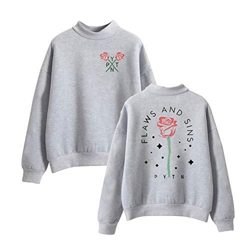 Payton Moormeier Sweatshirt met Hoge Hals Unisex Pullover Lange Mouwen Coltrui Herfst Winter Hoodies Sweater Tops Top Blouse Uitloper Casual