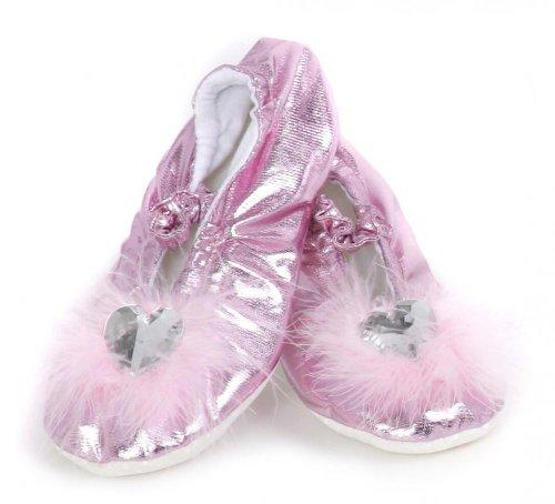 Grandes imitaciones -  zapatillas para disfraz de princesa rosa (Medium) (de 2/4 años)
