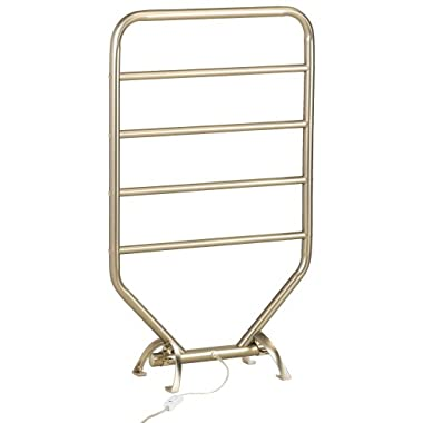 Warmrails RTS 34-Inch Mid Size Towel Warmer with Wall Mounted/Floor Standing Option, Nickel Finish
