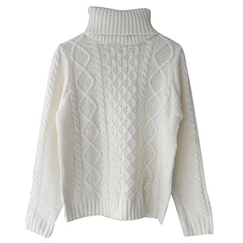 ZKOO A Collo Alto delle Donne di Inverno Maglieria Contorto Addensare Maglione Slim Pullover