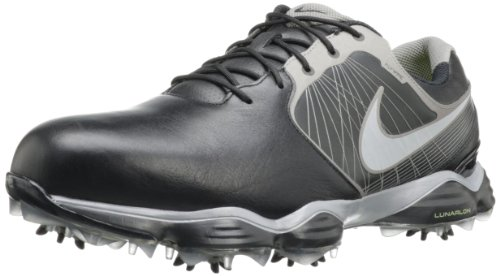 Nike Herren Golfschuh Nike Lunar Control II, Weiá (Schwarz/Metallic Zinn/Volt/Reflect Silver), 43 EU