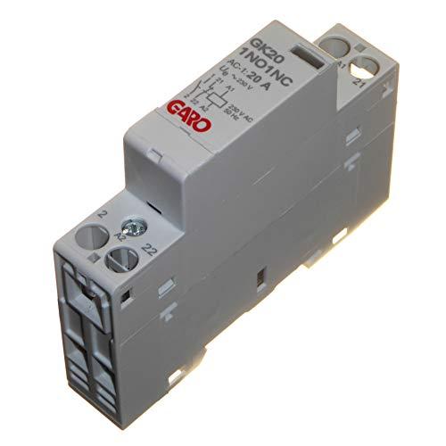 Contactor 20A 2 polos 230V AC 1 normalmente abierto N/O y 1...