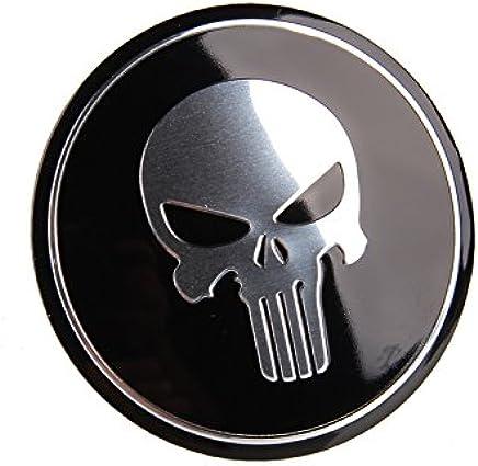 BENZEE 4pcs D133 56.5mm Car Emblem Badge Sticker Wheel Hub Caps Centre Cover SKULL Punisher